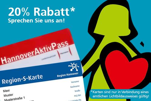 Mit Hannover AktivPass und Region-S-Karte 20% sparen